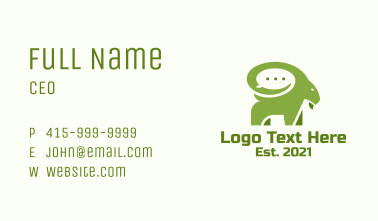 Green Ram Chat Business Card