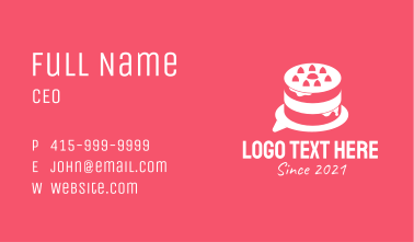 White Cake Chat  Business Card