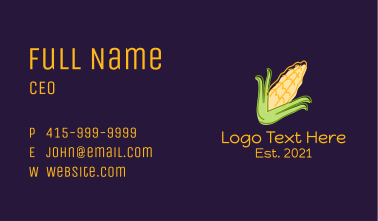 Corn Plant Farm Business Card