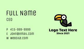 Toucan Bird Cartoon Mascot Business Card