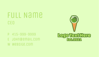 Green Apple Ice Cream  Business Card