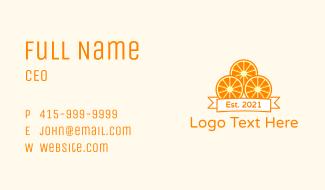 Orange Slices Design Business Card