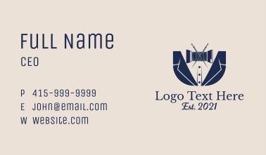 Thread Tuxedo Business Card