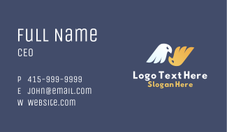 Twin Eagle Letter N Business Card