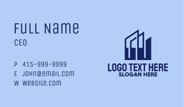 Blue Building Towers  Business Card