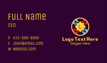 Festive Ornamental Letter Business Card