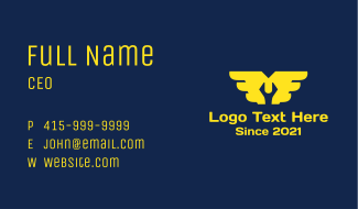 Mechanic Wrench  Wings Business Card