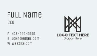 Letter M Bridge Structure Business Card