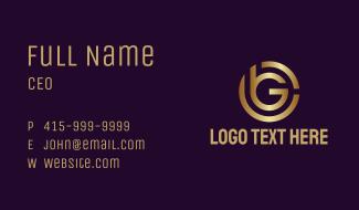 Golden BG Monogram Business Card