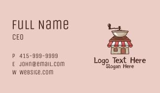 Coffee Grinder Shop  Business Card