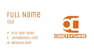 Modern Small A Business Card
