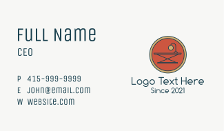 Office Table Emblem  Business Card