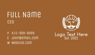 White Bakery Mascot  Business Card