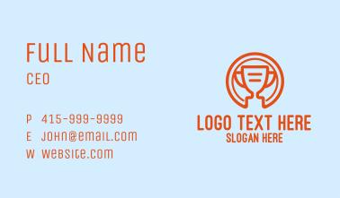 Digital Orange Trophy Business Card