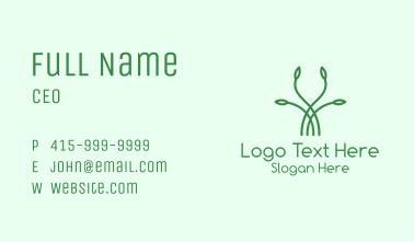 Minimalistic Seed Leaf Business Card