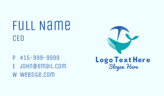Blue Whale Blow Business Card