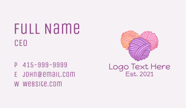 Yarn Ball Thread  Business Card