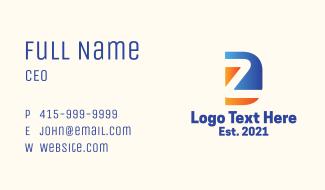 Tourism Agency Letter D & Z Business Card