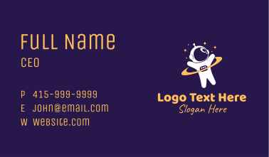 Child Space Astronaut Business Card