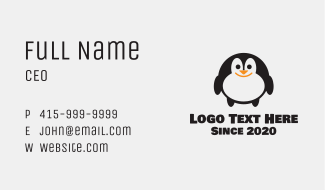 Penguin Toy Store Business Card