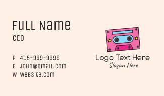 Retro Cassette Tape Business Card