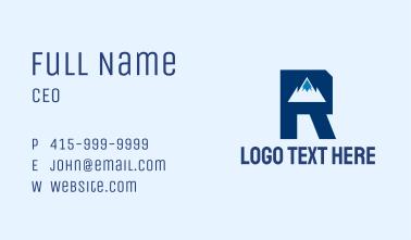 Mountain Peak Letter R Business Card