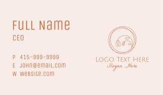 Flower Shop Scribble Business Card