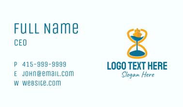Sailing Hourglass Business Card
