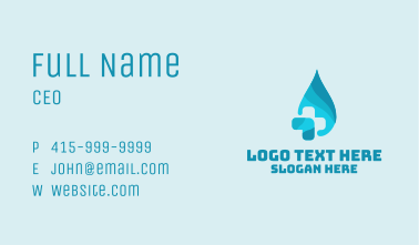 Blue Hydrotherapy Cross Business Card
