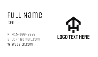 Black Aircraft Letter T & H Business Card