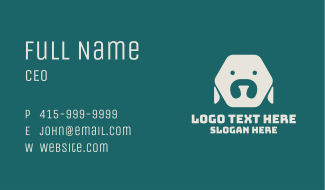 Minimalist Hexagon Dog Business Card