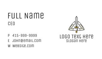 Handheld Sword Warrior Business Card