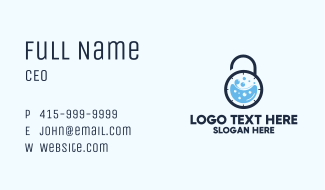 Time Lock Washing  Business Card