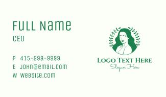 Nature Woman Beauty Business Card
