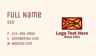 Colorful Textile Design  Business Card