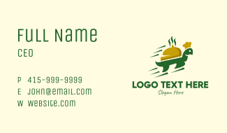 Fast Turtle Food Delivery Business Card