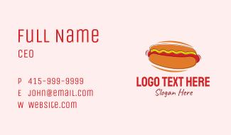 Hot Dog Snack  Business Card