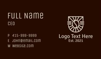 Coffee Shop Emblem Business Card
