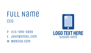 Blue Mobile Document Business Card