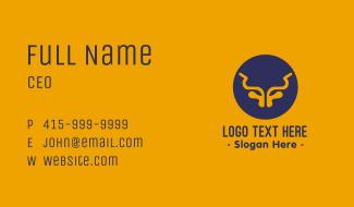 Abstract Bull Horns Business Card