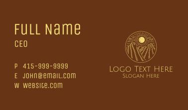 Mountain Range Sun Business Card
