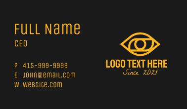 Golden Eye Outline  Business Card