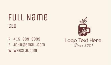 Organic Herbal Mug Business Card