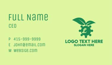 Environmental Virus Lettermark Business Card