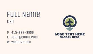 Aeronautics Plane Location Business Card