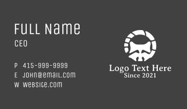 White Raccoon Stone Business Card