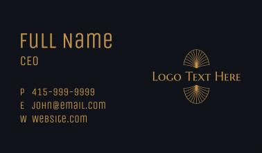 Gold Art Deco Wordmark Business Card