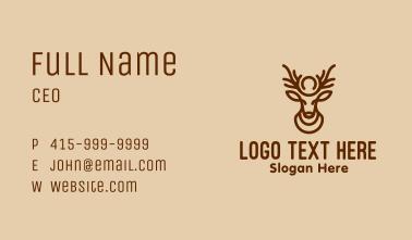 Brown Minimalist Deer Business Card