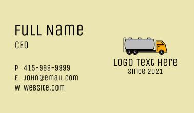 Oil Tanker Truck Business Card