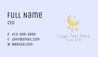Baby Stars Moon  Business Card